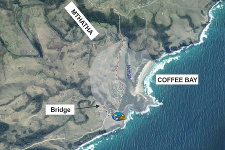 Map of Coffee Bay Small